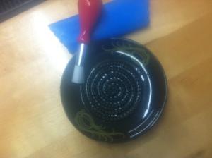 Ceramic grinder mini plate